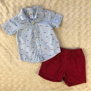 Carter's Happy Little Guy Shirt & Shorts Set 9M